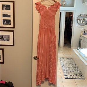 Free Prople smocked maxi dress.